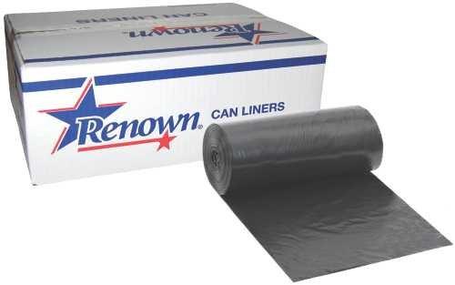 Renown REN22505-CA Liner, 30'' x 36'', 25 gal, 0.50 mil, Black