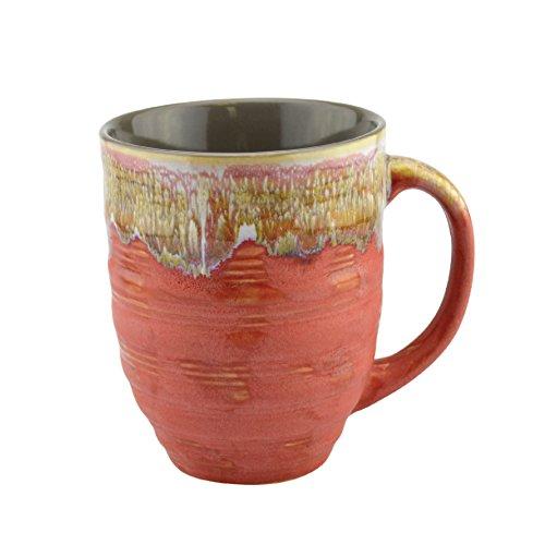 Mug - Large Coffee Mugs 20 Ounce - Unique Glazed Ceramic Coffee and Tea Cups (Rose, 2) (Coffee Rose Mug Ceramic)