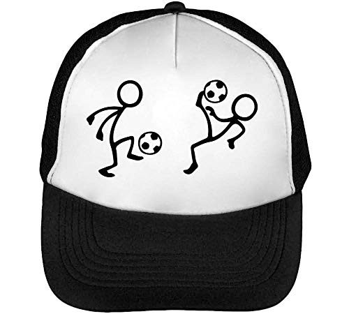 Playing Football Together Gorras Hombre Snapback Beisbol Negro Blanco
