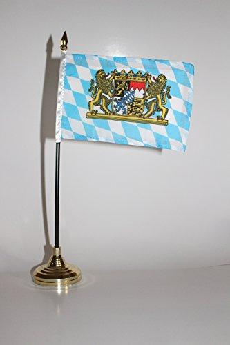 Bavaria Flag (German Germany Crest Bavaria Bavarian with Lions 4