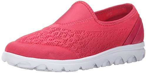 Propet Women's TravelActiv Slip-On Fashion Sneaker Watermelon Red