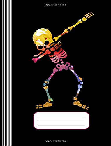 Funny Dabbing Skeleton: Dabbing Skeleton Skull Funny Student Nerdy Dab  Humor School Girls Boys Composition Notebook Journal, College Graph Paper  200
