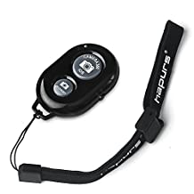 Hapurs Bluetooth Wireless Remote Control Camera Shutter Release Self Timer for iPhone 6 6Plus 5S 5C 5 4S 4, iPad Air Mini, Samsung Galaxy S5 S4 S3 Note Tab, Google Nexus, HTC, Sony and other iOS Android Phones