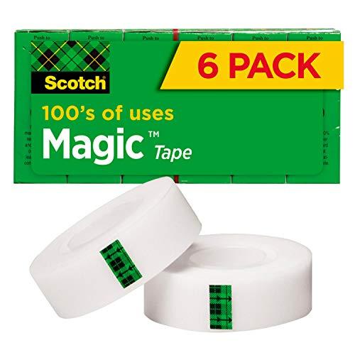 스카치 매직 테이프 6 롤 수많은 응용 프로그램 보이지 않는 수리 용으로 설계된 3 | 4X1296 인치 박스형(810-6PK)