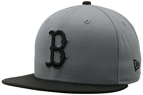 New Era 59Fifty MLB Basic Boston Red Sox Fitted Gray/Black Headwear Cap (7 1/2) Boston Red Sox 59fifty Hats