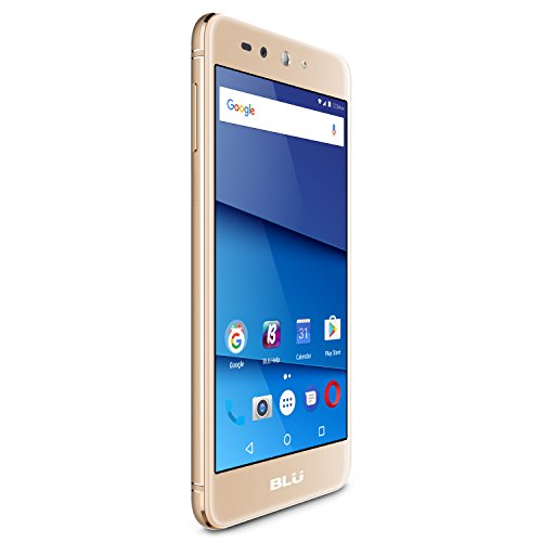 "BLU Grand XL LTE -5.5"" HD GSM Unlocked Smartphone with 13MP Main Camera -Gold"