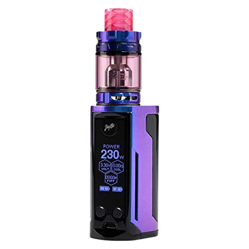 Wismec Reuleaux RX GEN3 Dual Kit 230 W, mit Gnome King Tank 5,8 ml, Durchmesser 26 mm, Riccardo e-Zigarette, gloss blue…