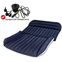 BHMOTORUS Mobile Inflation Travel Thicker Back Seat Cushion Air Bed for SUV,SUV Mattress Air Bed Portable Car Bed for Outdoor Traveling,Free Electric Air Pump