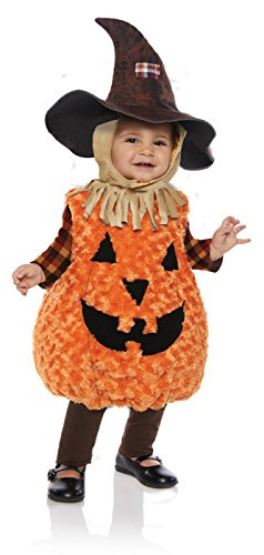 Underwraps Kid's Toddler's Halloween Scarecrow Belly Babies Costume Childrens Costume, Orange, Large