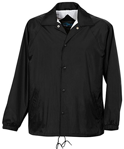 Tri-Mountain 100% Taffeta Nylon Lightweight Water-Resistant - Nylon Lightweight Black Jacket