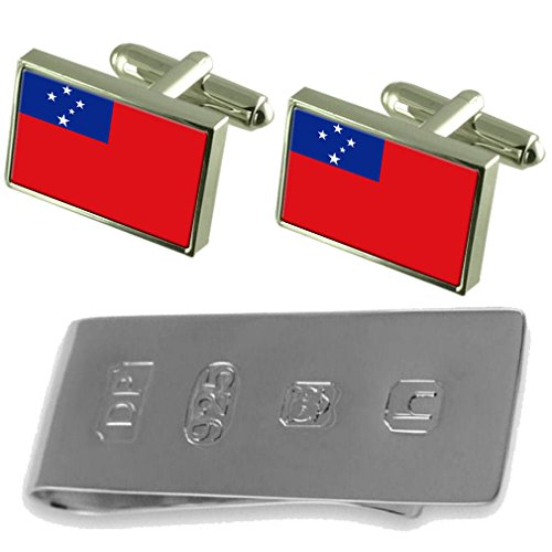 Samoa Cufflinks Samoa Money James Bond Flag Clip amp; Flag d5qSWt