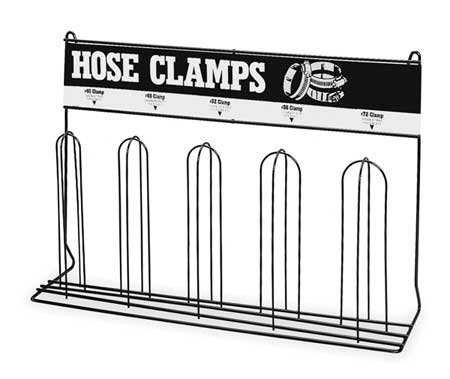 Durham 905-08-S702 Gray Cold Rolled Steel 5 Loop Hose Clamp Rack, 23-1/4'' Width x 16-1/8'' Height x 5-3/8'' Depth