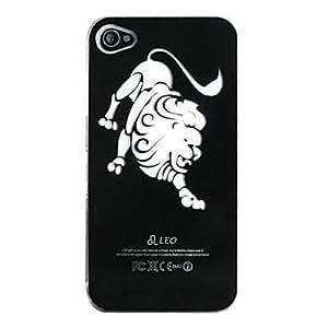 CL - Nuevo sentido leo diseño flash LED luz de color cambiante caso duro para el iphone 5 , Negro