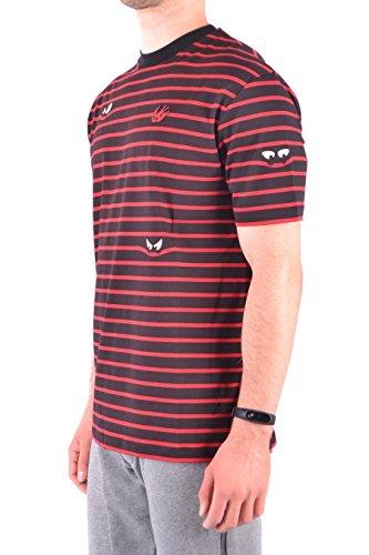 rouge 291571rkt076054 shirt Noir Homme Mcqueen Coton T Alexander FR4qIASc8