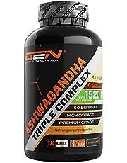 Ashwagandha extract - Premium: Ultra Hoge Dosis met 1520 mg - Shoden ® Ashwagandha Root Extract (35% Withanolide) + biologische Ashwagandha poeder + Piperine - 120 Capsules - Veganistisch