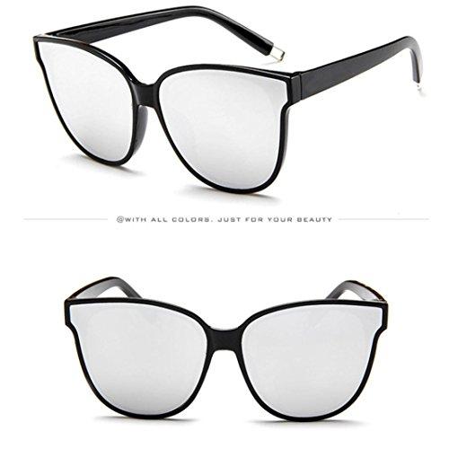 Pour Mirrored Top Lady Cat Soleil Vintage Femmes Unisexe Hommes Eye Surdimensionné Lunettes de Femmes Dames Mode Designer Plat A Lunettes Eyewear Rétro TqwpgHx