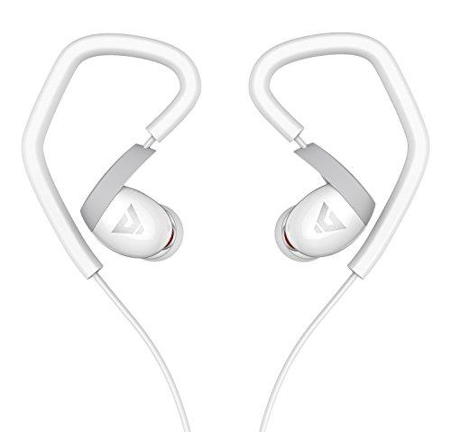 Sound Intone K6 Sport Ohrhörer In-ear Kopfhörer mit Mikrofon und Lautstärkeregelung kompatibel mit PC/Smart Phone/iPhone/Samsung/HTC/Android (Weiß)