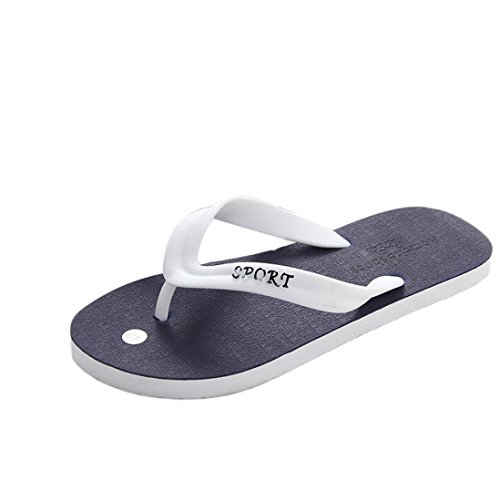 hunpta Men's Slipper, Men's Summer Flip-Flops Slippers Beach Sandals Indoor&Outdoor Leisure Shoes Blue