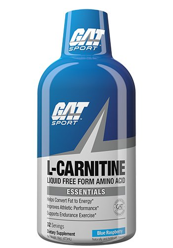 (GAT Essentials Liquid L-Carnitine Drink, Blue Raspberry, 16)