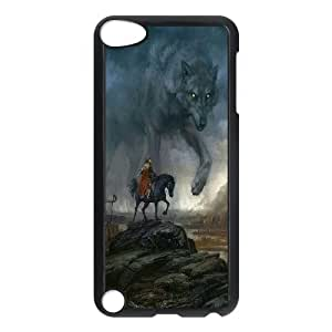 High Quality Phone Case FOR Ipod Touch 5 -Wolf And Moon Pattern-LiuWeiTing Store Case 13