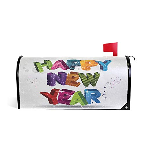 WOOR Happy New Year Mailbox Cover Standard Size-18