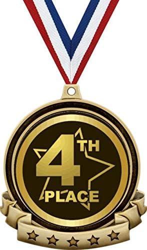 Lot  of 25 4th PLACE AWARD RIBBONS String /& Card