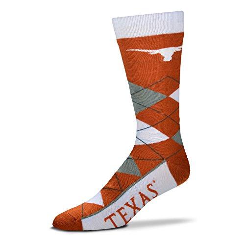 NCAA Texas Longhorns Argyle Unisex Crew Cut Socks - One Size Fits (Texas Longhorns Pattern)