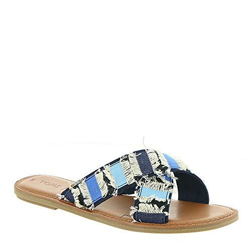 TOMS Women's Viv Sandals, Size: 7 B(M) US, Color: Navy Coupe -