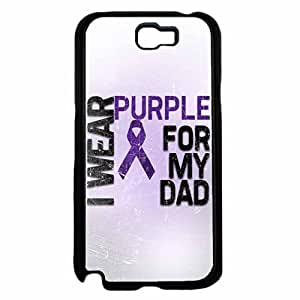 I Wear Purple For My Dad Hard SILICONE Phone Case Back For Case HTC One M7 Cover
