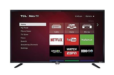 TCL 40-inch 1080p 120Hz Roku Smart LED HDTV w/Built-in Wi-Fi & 3 HDMI (40 Tcl Roku Smart Led Hdtv 1080p 120hz)