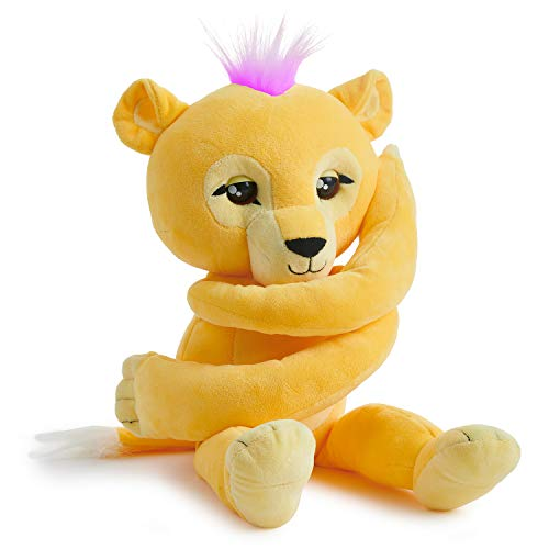 WowWee Fingerlings Hugs - Sam (Yellow) - Interactive Plush Lion