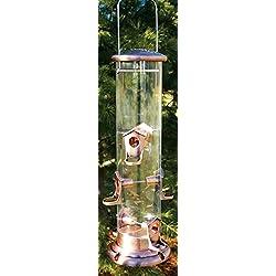 AUDUBON/WOODLINK Mega Tube Bird Feeder Clear/Copper 7.5 LB