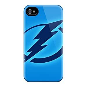 Durable Tampa Bay Lightning Back Case/cover For Iphone 4/4s