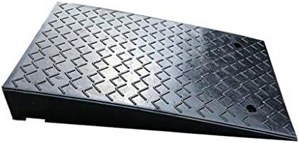 CSQランプ 自動車修理ショップラバースロープ、交通渋滞/サイドウォーターアウトレットデザインと地域のための大型トラック/大型車の傾斜路/カーブランプ (Color : Black, Size : 50*80*12cm)