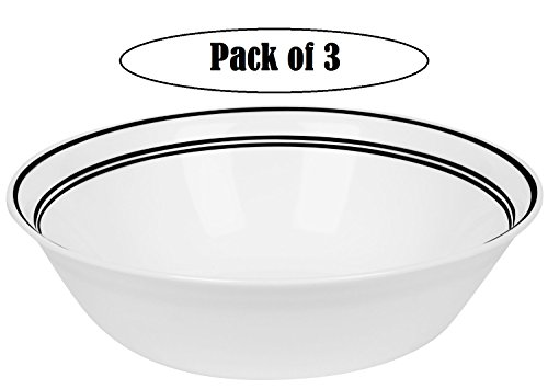 Corelle Livingware 1-Quart Serving Bowl,Classic Caf Black...