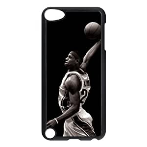 DIY case 7 NBA Lebron James Print Black Case With Hard Shell Cover for iPod Touch 5th