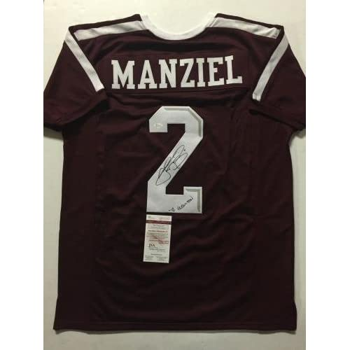 uk availability 11692 463f9 Autographed/Signed JOHNNY MANZIEL
