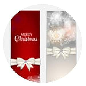 alfombrilla de ratón Los copos de nieve de Navidad sitio web Encabezado y Conjunto de la bandera del fondo Ve - ronda - 20cm