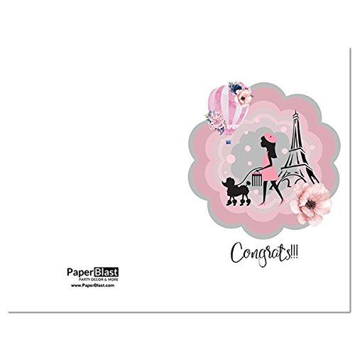 amazon com paris girl congrats card with custom handwritten