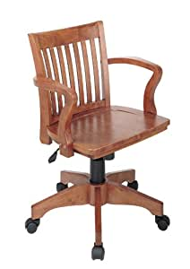 amazon com office star deluxe wood bankers desk chair with wood