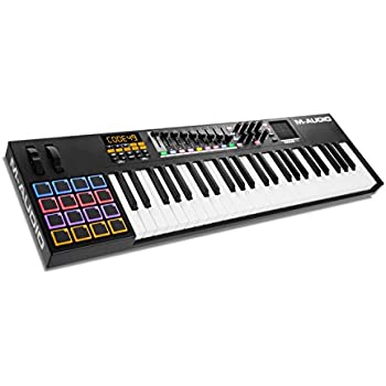 M-Audio Code 49 Black | 49-Key USB MIDI Keyboard Controller with X/Y Touch Pad (16 Drum Pads / 9 Faders / 8 Encoders), VIP Software Download Included