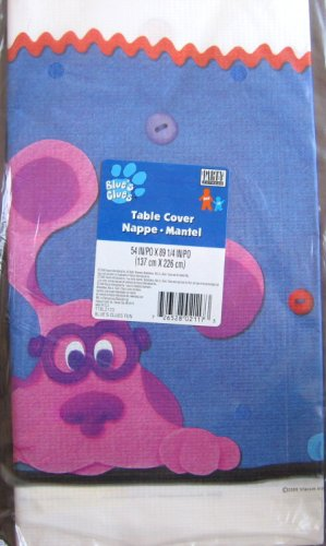 (BLUE'S CLUES Party Table Cover BLUE, PERIWINKLE & MAGENTA 54