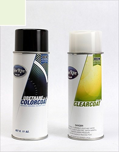 ColorRite Aerosol Automotive Touch-up Paint for Cadillac All - White Diamond Pearl Tri-Coat 93/WA8933 - Color+Clearcoat Package