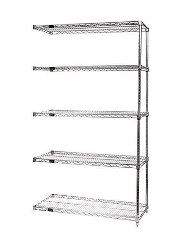 Quantum Wire Shelving 5 - Shelf Add-on Unit Storage Rack - 24