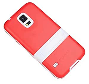 Red Case for Samsung Galaxy S5 i9600 New Slim Soft Flexible TPU Gel With Stand Back Cover(Gift 2 PCS Sticker)