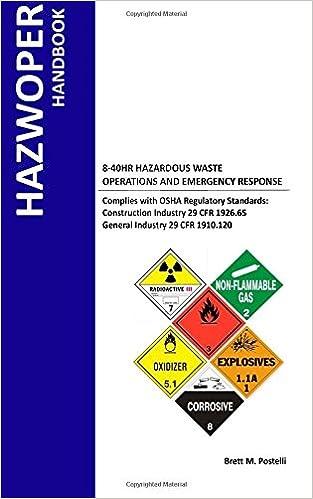 Hazwoper handbook 8 40 hr hazardous waste operations and emergency hazwoper handbook 8 40 hr hazardous waste operations and emergency response first edition fandeluxe Images