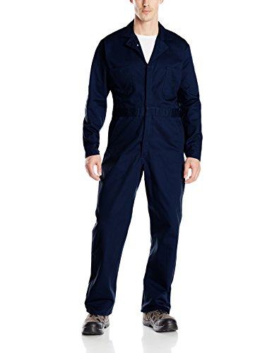 Red Kap Men's Button-front Cotton Coverall, Navy, 64 by Red Kap