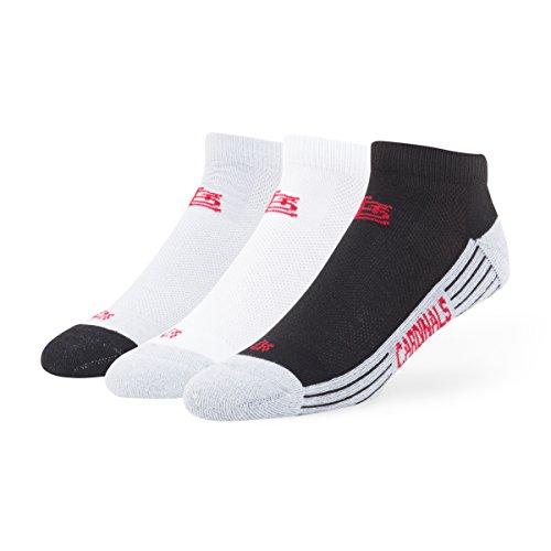 MLB St. Louis Cardinals '47 Brand Skylite Tonal Low Cut Socks, Medium (Men's 5-8.5 / Women's 5-9.5), 3-Pack (Cardinals Louis Gear)