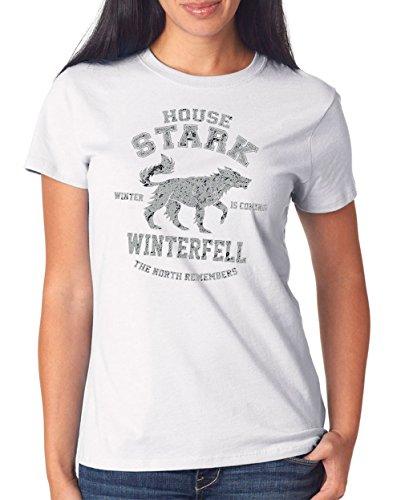 House Stark T-Shirt Girls White Certified Freak
