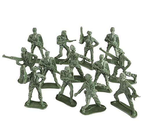 Soldiers Toy (Rhode Island Novelty 144 Classic Assorted Toy Soldiers in Poses)